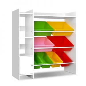 Keezi Children's 8 Bin Toy Storage Shelf