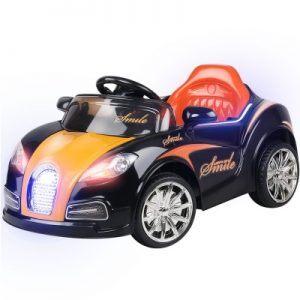 Kids Ride On Car - Black & Orange