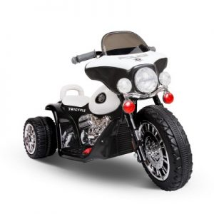 Children's Electric Harley Ride On Motorbike Black & White