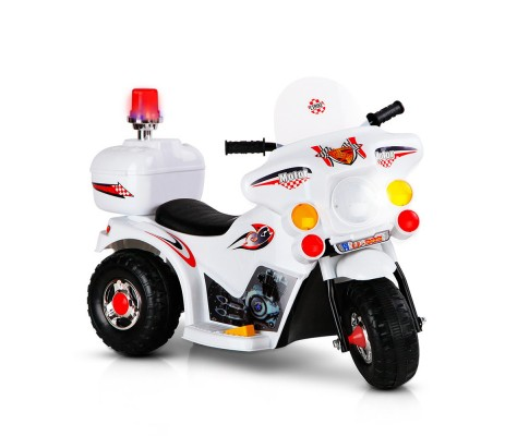 Kids Ride On Motorbike Motorcycle Car-White