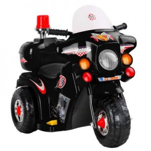 Kids Black Ride On Motorbike Motorcycle Car