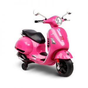 Children's Ride On Scooter Vespa Licensed Motorcycle Car Toys Pink