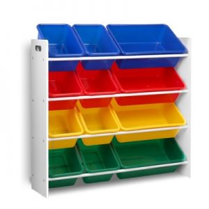 Children's 12 Bin Toy Organiser Storage Rack