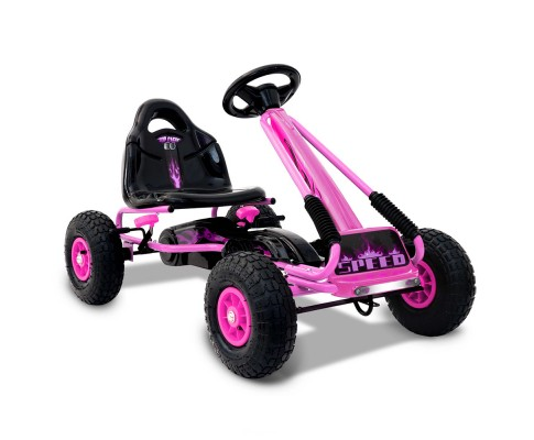 Children's Pedal Go Kart Racing-Pink