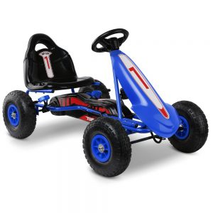RIGO Kids Pedal Go Kart Ride On Racing Bike- Blue