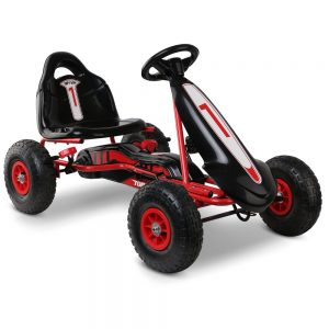 Kids Pedal Powered Go Kart Ride On  Racing Bike-Red