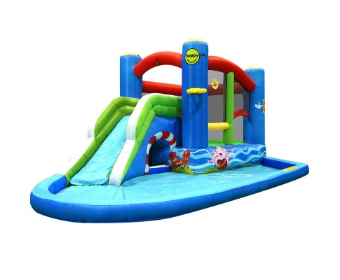 Happy Hop Inflatable Water Jumping Castle Slide