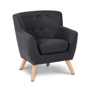 Kids Fabric Accent Armchair-Black