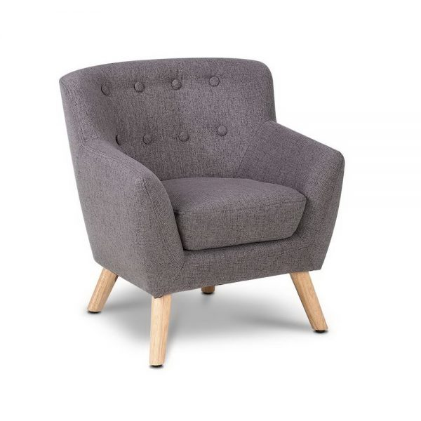 Kids Fabric Accent Armchair-Grey