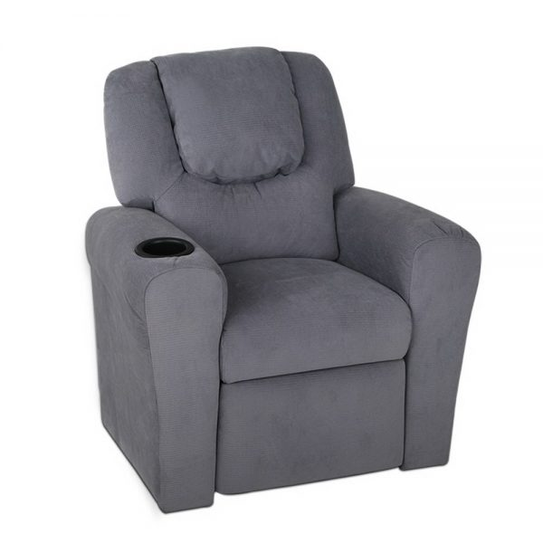 Keezi Luxury Kids Recliner Lounge Fabric Armchair GY