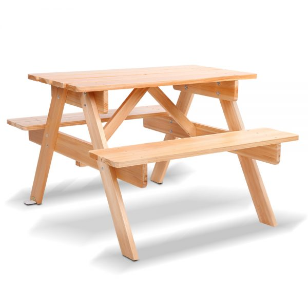 Keezi Children's Wooden Picnic Bench Set