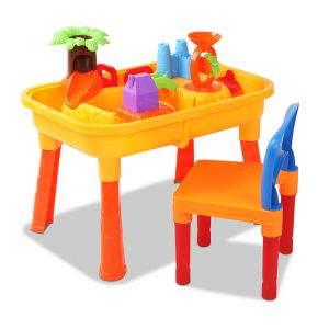 Keezi Children's Outdoor Table & Chair Sandpit Set
