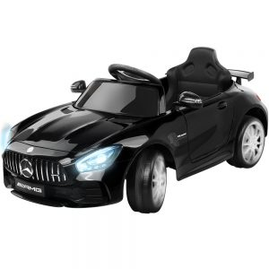 Kids Ride On Car Black Mercedes Benz AMG GT R Electric 12V