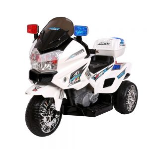 Kids Ride On Motorbike Motorcycle Car White