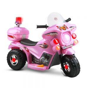 Girls Pink Ride On Motorbike