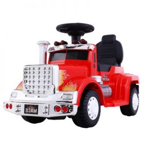 Children's Electric Red Ride On Cars Battery Truck