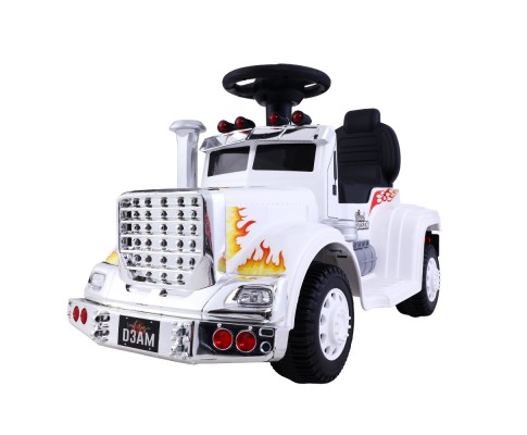 Children's Electric White Ride On Cars Battery Truck