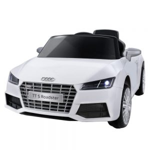 White Audi Licensed Kids Ride On Cars Electric Battery