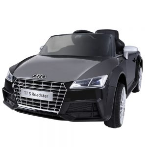 Black Audi Licensed Kids Ride On Cars Electric Battery