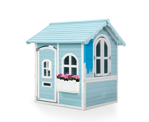 Children's Wooden Cubby House Outdoor Pretend Play Set