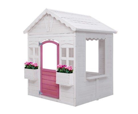 Children's Cubby House Wooden Pretend Play Set