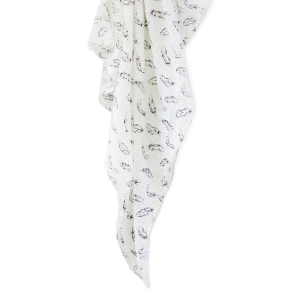 2 for 1 Organic Feathers Cotton Muslin Swaddling Wrap