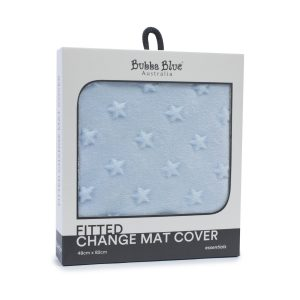 Everyday Essentials Fitted Change Mat Cover - Blue (star)