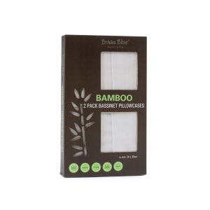 Bamboo White 2pk Bassinet Pillowcases