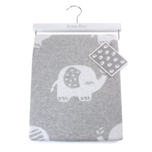 Petit Elephant Knit Blanket