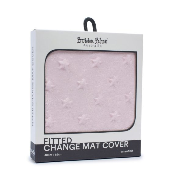 Everyday Essentials Fitted Change Mat Cover - Pink (star)