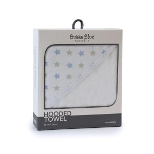 Everyday Essentials Hooded Towel - Blue & Grey Stars