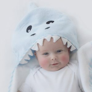 Aussie Animals 'Shark' Novelty Hooded Bath Towel