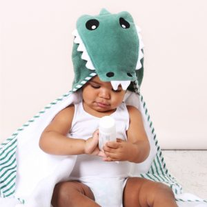 Aussie Animals 'Crocodile' Novelty Hooded Bath Towel
