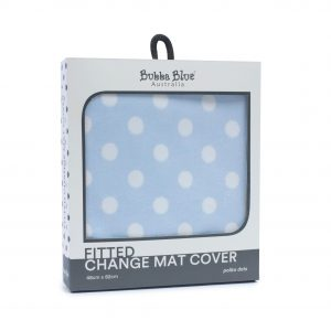 Blue Polka Dots Change Mat Cover