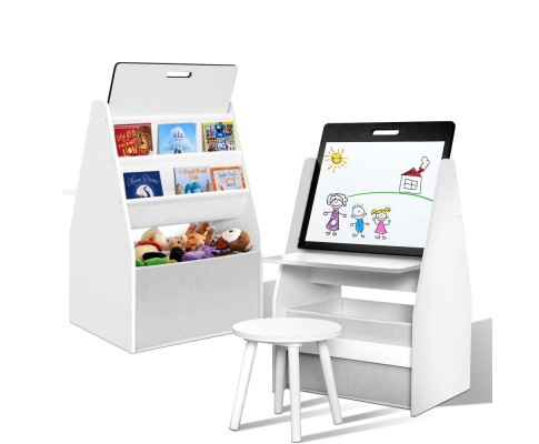 Kids Book shelf Bookcases Easel Whiteboard Magazine Rack Desk
