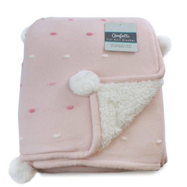 Confetti Cot Knit Blanket Pink