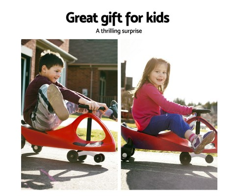 Keezi Kids Ride On Swing Car - Red