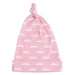 Organic Cotton Baby Beanie - SNOW MOUNTAIN CANDYPINK