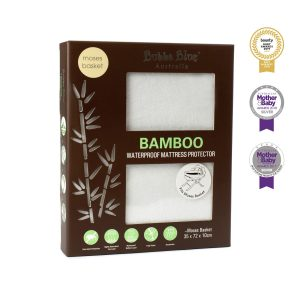 Bamboo White Moses Basket Waterproof Mattress Protector