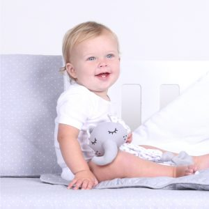 Petit Elephant Embroidered Cot Sheet Set