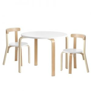 Keezi 3PCS Set Activity Table & Chairs Children Furniture
