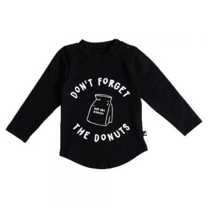 Don't Forget The Donuts LS Tee Black