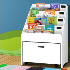 Artiss Kids Wooden Bookshelf - White
