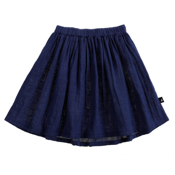 ANARKID Muslin Skirt-Navy