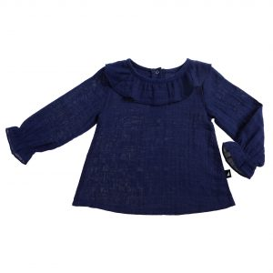 ANARKID Muslin Smock Top-Navy