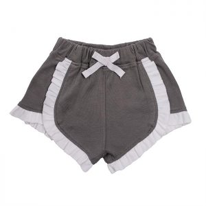 Organic Cotton Baby Girl Shorts - Grey