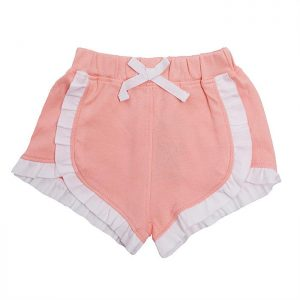 Organic Cotton Baby Girl Shorts - Peach