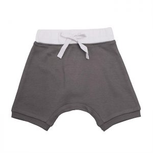 Organic Cotton Baby Shorts - Grey