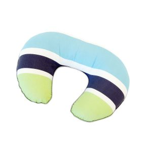 Amani Bebe Nursing Pillow-Summer Stripe Grey & Lime