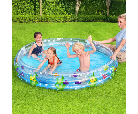 Bestway Above Ground Kids Play Pools Inflatable Family Round Clear